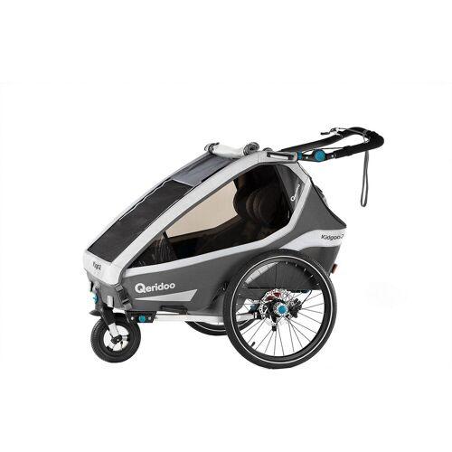 Qeridoo Fahrradkindersitz »Kidgoo2 Sport 2020 Grau«, grau