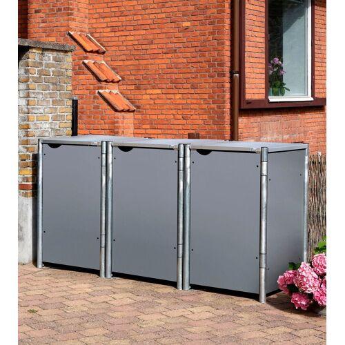 Hide Mülltonnenbox für 3 x 240 l, grau, grau