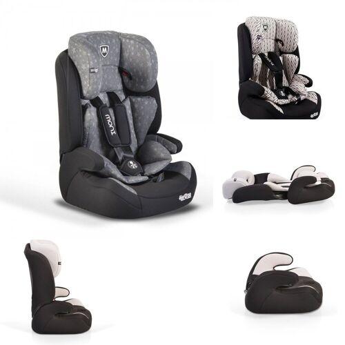 Moni Autokindersitz »Kindersitz Armor Gruppe 1/2/3«, 5.4 kg, (9 - 36 kg) 1 bis 12 Jahre Kopfstütze Kissen, grau