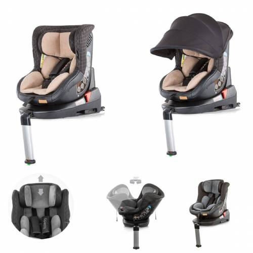 Chipolino Autokindersitz »Kindersitz Toledo Gruppe 0+/1«, 10.1 kg, (0 - 18 kg) mit Isofix, Sitz drehbar
