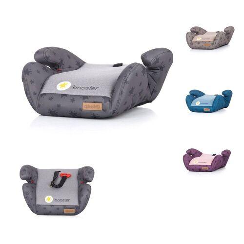 Chipolino Kindersitzerhöhung »Kindersitz Booster Gruppe 2/3«, 1.2 kg, (15 - 36 kg) Gurtführung Bezug abnehmbar, grau