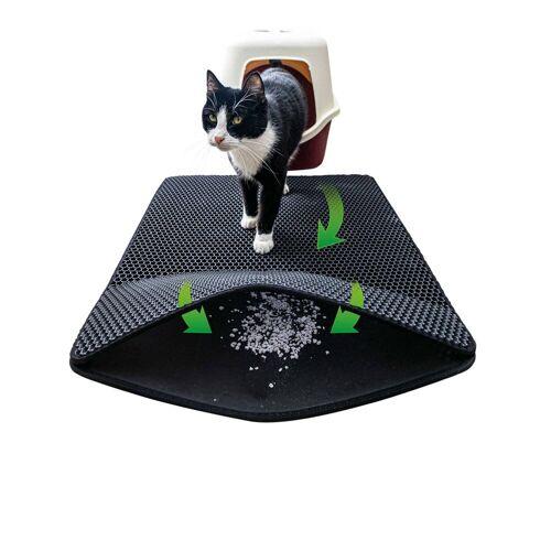 riijk Katzentoilette »Katzen Streumatte«, Katzenklomatte 75x58cm XXL Matte Katzentoilette, perfekte Katzenstreumatte für die saubere Wohnung, Katzenmatte Katzenklo schwarz, Schwarz