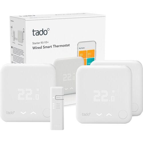 Tado Raumthermostat »Smart Thermostat-Starter Kit V3+ mit 2 zusätzlichen Smart Thermostaten«