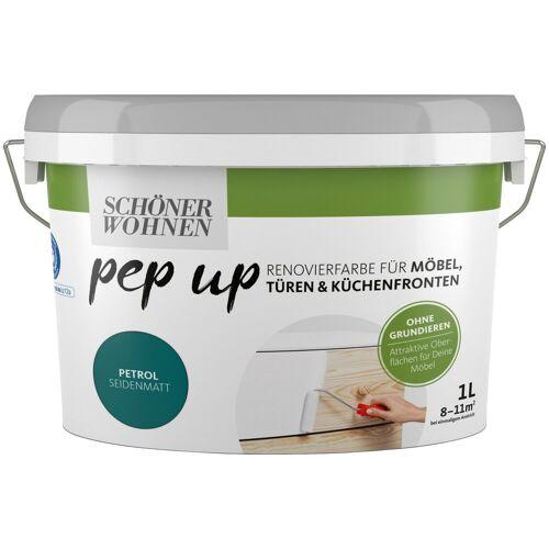 SCHÖNER WOHNEN-Kollektion Lack »pep up - petrol«, seidenmatt, für Möbel, Türen und Küchenfronten, 1 l