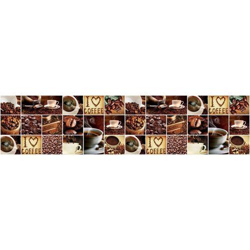 Consalnet Vliestapete »KAFFEE COLLAGE«, grafisch, 250 x 60 cm