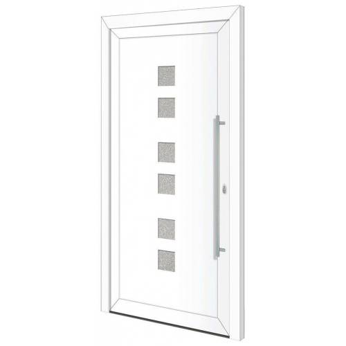 RORO Türen & Fenster Haustür »Otto 17«, BxH: 100x210 cm, weiß/weiß, Anschlag links, ohne Griff