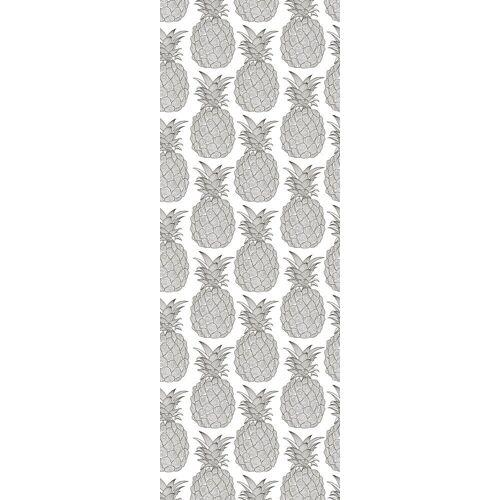 queence Vinyltapete »Mae«, 90 x 250 cm, selbstklebend, grau