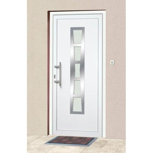 KM Zaun KM MEETH ZAUN GMBH Kunststoff-Haustür »K640«, nach Wunschmaß, Anschlag rechts oder links, weiß