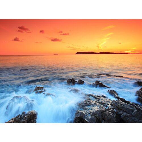 Papermoon Fototapete »Dubrovnik Sunset«, Vlies, in verschiedenen Größen, bunt