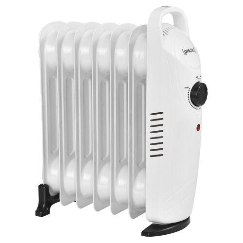 Pro-tec Ölradiator, 700 W, Mobile Elektroheizung 700W Heizkörper weiß
