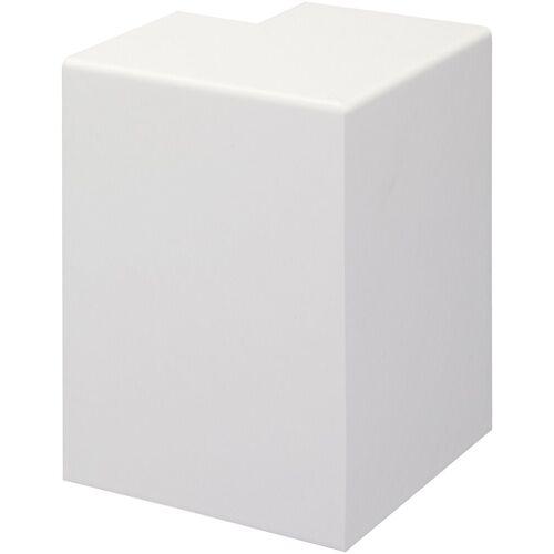 Bodenmeister Set: Außenecken »Rohrabdeckleiste Weiß«, 2er-Pack, Höhe: 10 cm, weiß