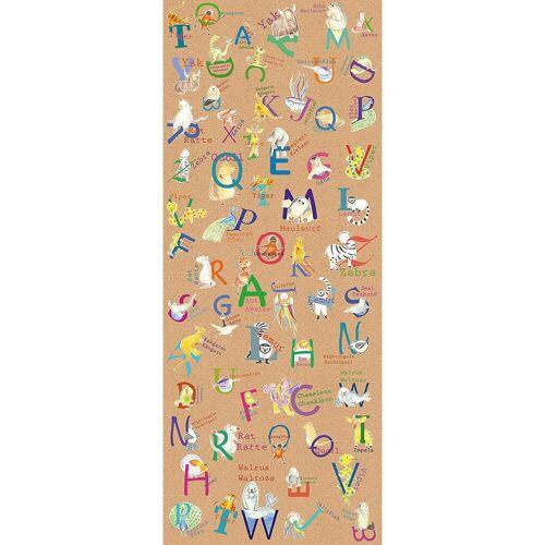 Komar Fototapete »Vlies Fototapete Animals A-Z, Panel, 100 x 250 cm«, braun
