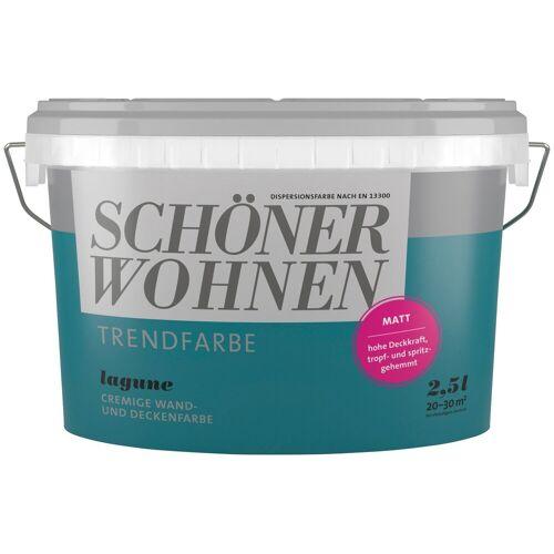 SCHÖNER WOHNEN-Kollektion Wand- und Deckenfarbe »Trendfarbe Lagune, matt«, 2,5 l