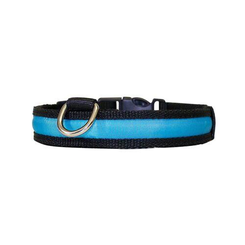"""PRECORN Hunde-Halsband »Hunde Leuchthalsband LED Halsband Hundehalsband Hunde-Halsband """"Zandoo"""" Leuchthalsband für Hunde inkl. Batterie in der Farbe blau Haustiere Katzen«"""