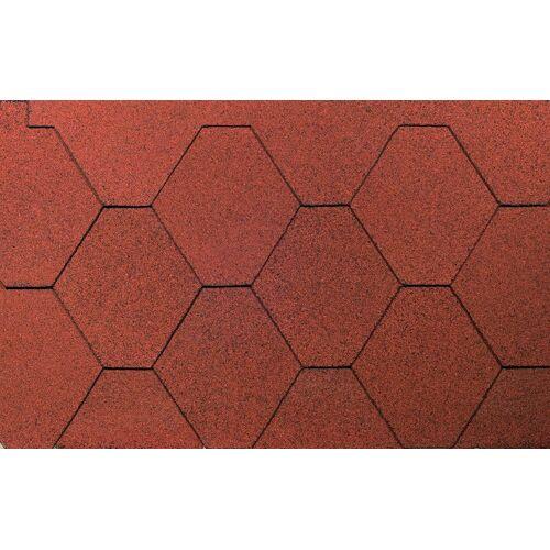 Wolff FINNHAUS Sechseck-Dachschindeln 3 m², rot, rot