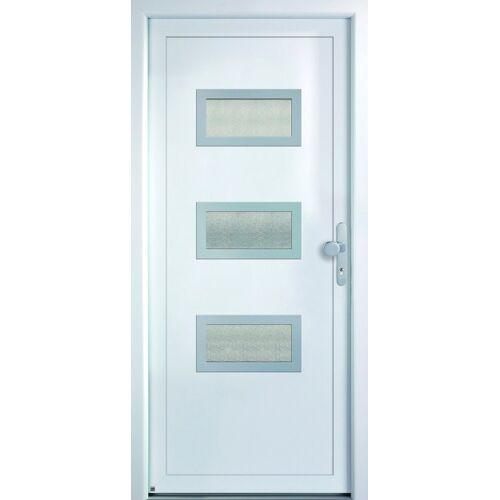KM Zaun KM MEETH ZAUN GMBH Mehrzweck-Haustür »K368D«, nach Wunschmaß, rechts oder links, mit Griffgarnitur, weiß