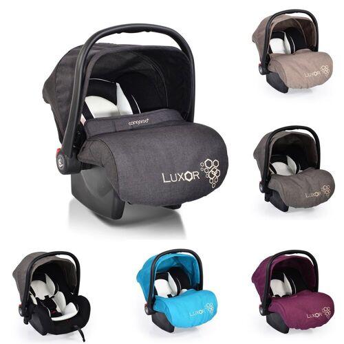 Moni Babyschale »Babyschale, Kindersitz Luxor, Gruppe 0+«, 2.9 kg, (0 - 13 kg), Sitzpolster, Fußabdeckung, schwarz