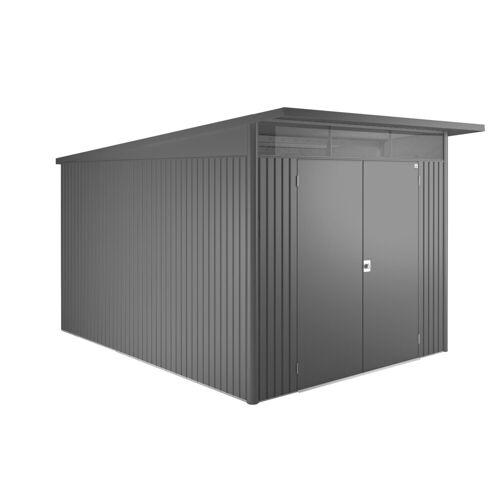 Biohort Stahlgerätehaus »AvantGarde XXL«, BxT: 252 x 332 cm, dunkelgrau-metallic, dunkelgrau