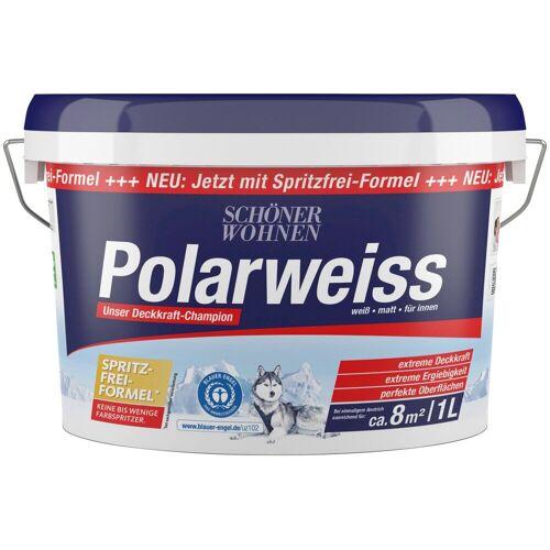 SCHÖNER WOHNEN FARBE Innenfarbe »Polarweiss«, 1 l, starke Deckkraft, Polarweiss