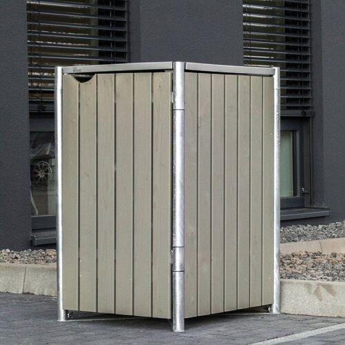 Hide Mülltonnenbox für 1 x 240 l, grau/natur, grau/natur
