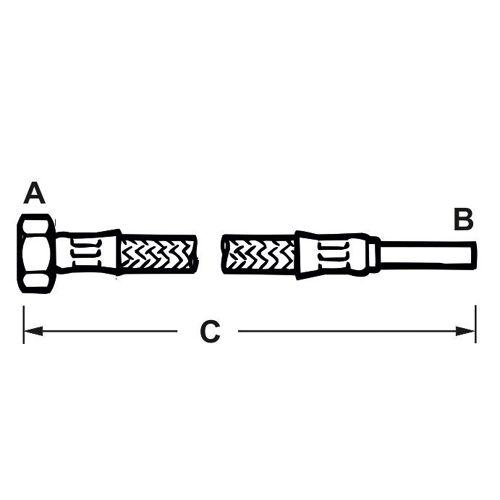 CORNAT Flexschlauch, L: 0,3 m