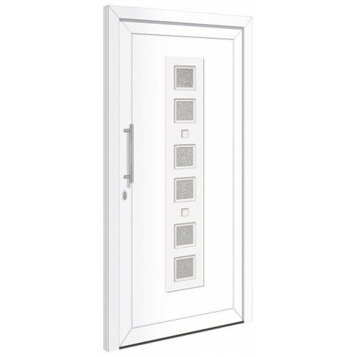 RORO Türen & Fenster Haustür »Otto 9«, BxH: 110x210 cm, weiß, ohne Griff