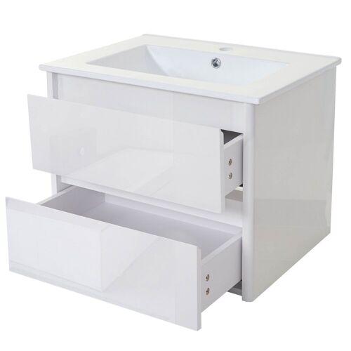MCW Waschtisch »-B19«, Soft-Close-System, Inkl. Aussparung für Siphon, weiß