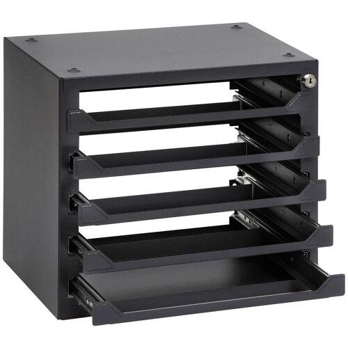 RAMSES Ordnungssystem , für Sortimentskästen, 39x25,5x36 cm, 5 Fächer, schwarz