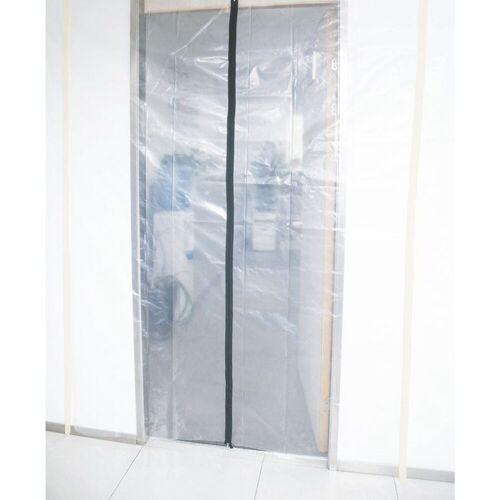 dynamic24 Tür, Folientür Schmutzschleuse Staubschutztür Staubtür Staubschutz Bau Tür Schleuse