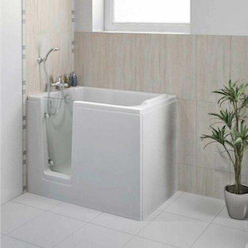 HAK Badewanne »DEEP, Sitzbadewanne mit Tür«, 121 x65cm, links