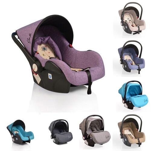 Moni Babyschale »Babyschale Gala, Gruppe 0+«, 3 kg, (0 - 13 kg), Sitzpolster, Fußabdeckung, lila