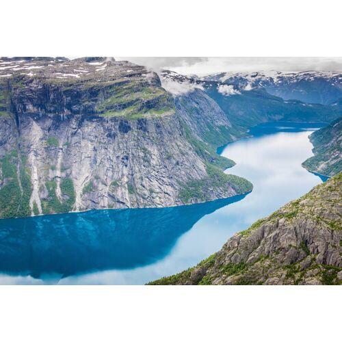 Papermoon Fototapete »Norwegian Fjord«, glatt