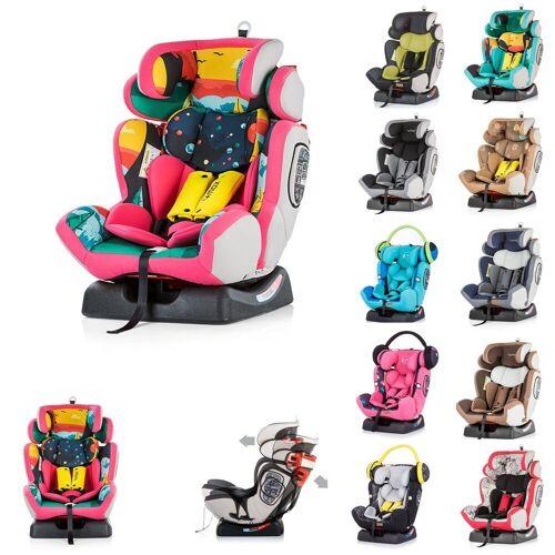 Chipolino Autokindersitz »Kindersitz 4 Max Gruppe 0+/1/2/3«, 9 kg, (0 - 36 kg), Seitenaufprallschutz, rosa