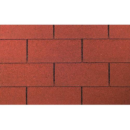 Wolff FINNHAUS Rechteck-Dachschindeln 3 m², rot, rot