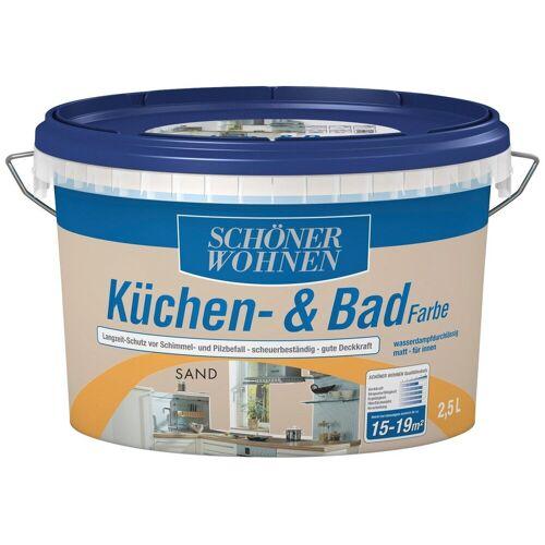 SCHÖNER WOHNEN-Kollektion Feuchtraumfarbe »Küche/Badfarbe, sand«, 2,5 l
