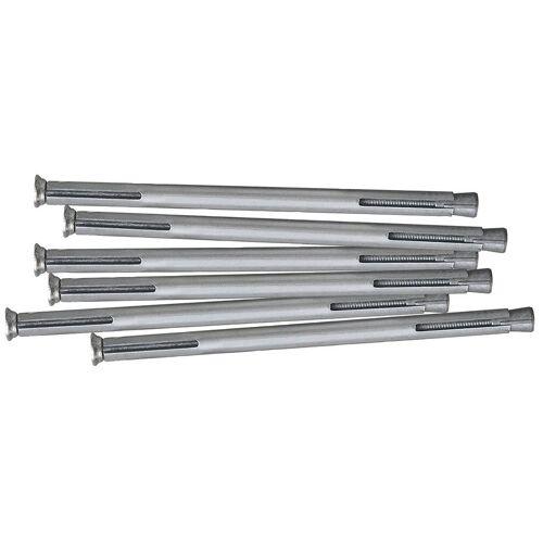 RORO Türen & Fenster RORO TÜREN & FENSTER Dübel-Set Metall, 132 mm, 6 Stück, grau