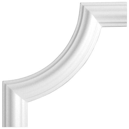 Homestar Zierleiste »Bogen BI 40«, 4-tlg. Set, passend zur Zierleiste I 40, Ø 240 mm, weiß
