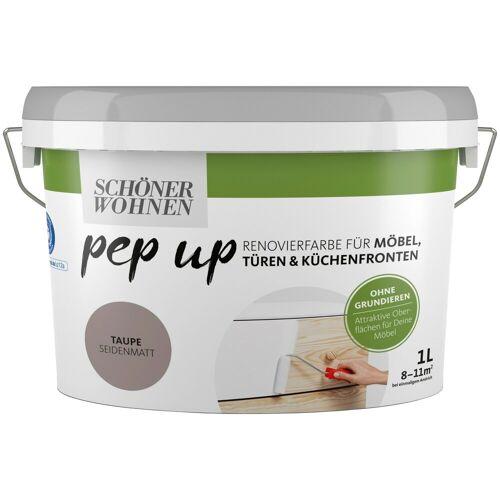 SCHÖNER WOHNEN-Kollektion Lack »pep up - taupe«, seidenmatt, für Möbel, Türen und Küchenfronten, 1 l