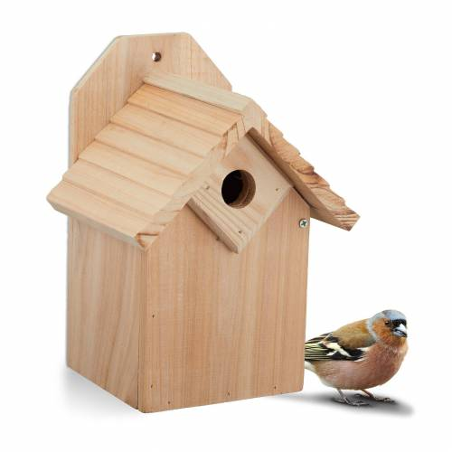 relaxdays Nistkasten »Nistkasten Vogel aus Holz«