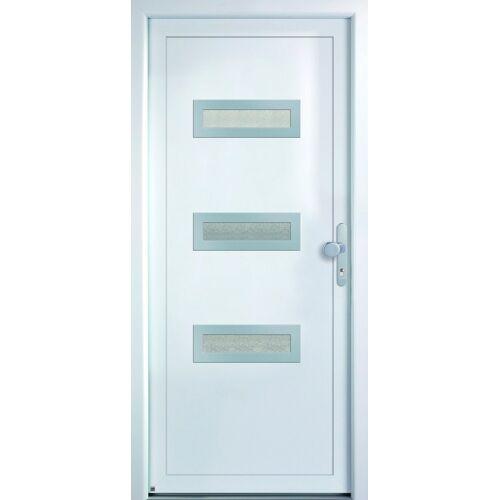 KM Zaun KM MEETH ZAUN GMBH Mehrzweck-Haustür »K366D«, nach Wunschmaß, rechts oder links, mit Griffgarnitur, weiß
