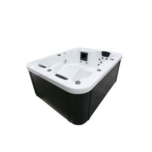 HOME DELUXE Whirlpool-Sitzbank »Outdoor Whirlpool White Marble«, ohne Treppe und Thermoabdeckung