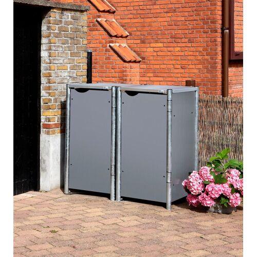 Hide Mülltonnenbox für 2 x 120 l, grau, grau