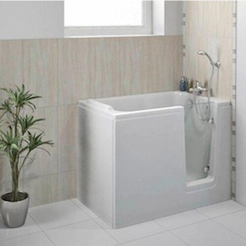 HAK Badewanne »DEEP,Sitzbadewanne mit Tür«, 121x65 cm, rechts