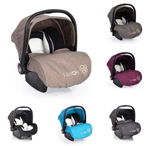 Moni Babyschale »Babyschale, Kindersitz Luxor, Gruppe 0+«, 2.9 kg, (0 - 13 kg), Sitzpolster, Fußabdeckung, beige