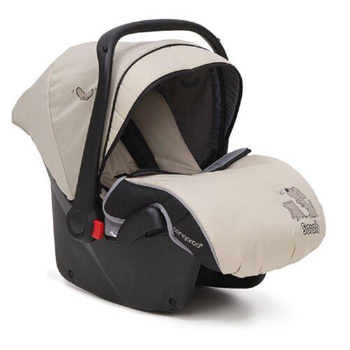 Moni Babyschale »Kindersitz, Babyschale Sarah Gruppe 0+«, 3 kg, (0 - 13 kg) mit Fußabdeckung, beige