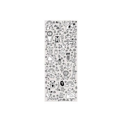 Komar Fototapete »Vlies Fototapete Animals A-Z, Panel, 100 x 250 cm«, weiß