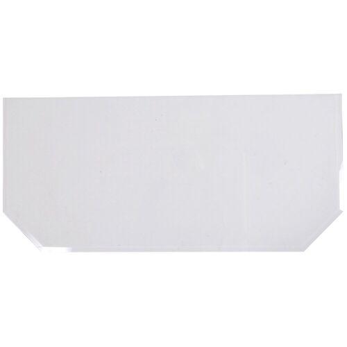 Firefix Glasvorlegeplatte sechseckig, 1200 x 550 mm, weiß