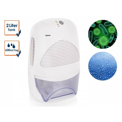 Tristar Luftbefeuchter, 2 l Wassertank, Elektrischer Luftentfeuchter, Raumluftentfeuchter, Lufttrockner gegen Schimmel, Schlafzimmer & Bad entfeuchten