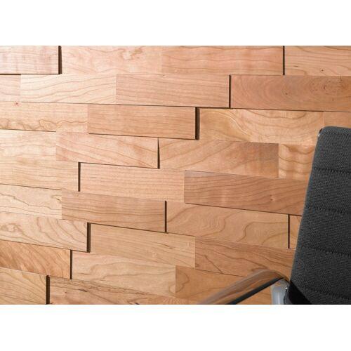 Wodewa Set: Verkleidungspaneel »200 - Kirschbaum«, 3D-Effekt, 1 m², kirschbaumfarben
