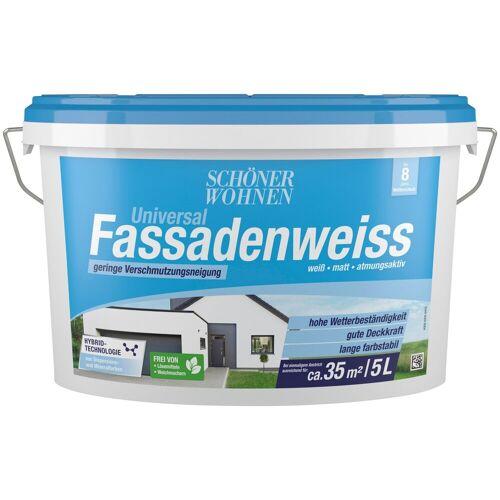 SCHÖNER WOHNEN-Kollektion Fassadenfarbe »Universal-Fassadenweiss 5 l«, hoch wasserdampfdurchlässig und wetterbeständig